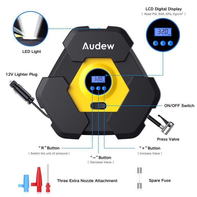 Audew 12V Portable Air Pump