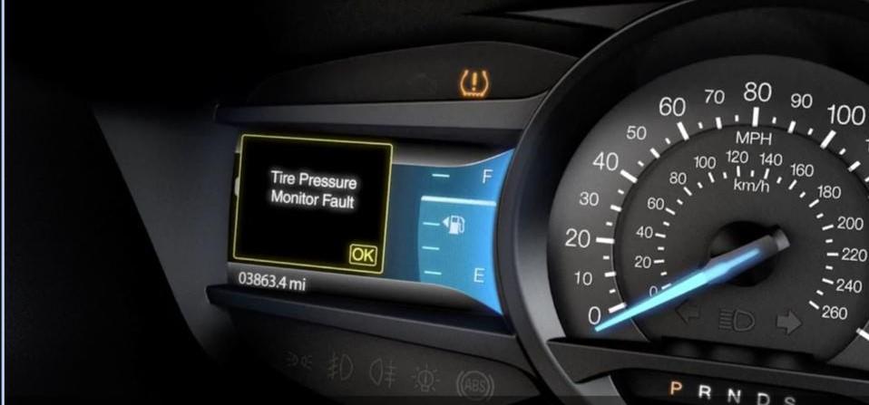 Ford tire pressure sensor fault